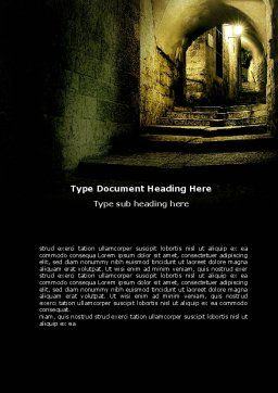 Dark Alley Word Template, Cover Page, 06707, Construction — PoweredTemplate.com
