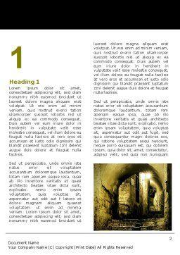 Dark Alley Word Template, First Inner Page, 06707, Construction — PoweredTemplate.com