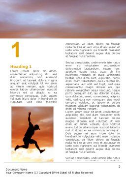 Jumper On Sunset Word Template, First Inner Page, 06709, Business Concepts — PoweredTemplate.com