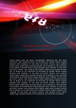 Colorful Digital Theme Word Template, Cover Page, 06710, Technology, Science & Computers — PoweredTemplate.com