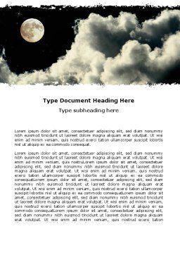 Full Moon Word Template, Cover Page, 06713, Nature & Environment — PoweredTemplate.com