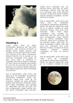 Full Moon Word Template, First Inner Page, 06713, Nature & Environment — PoweredTemplate.com