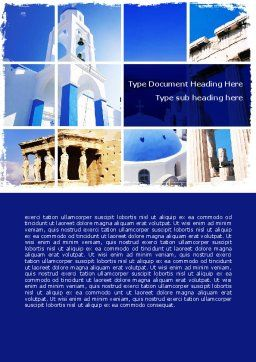 Greek Churches Word Template Cover Page
