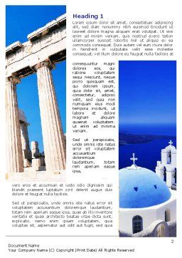 Greek Churches Word Template First Inner Page