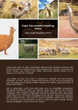 Free Lama Word Template, Cover Page, 06716, Agriculture and Animals — PoweredTemplate.com