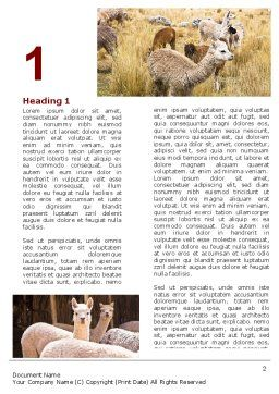 Free Lama Word Template, First Inner Page, 06716, Agriculture and Animals — PoweredTemplate.com