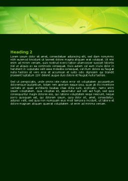 Free Abstract Green Word Template, Second Inner Page, 06720, Technology, Science & Computers — PoweredTemplate.com