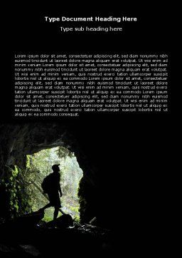 Caver Word Template, Cover Page, 06724, Education & Training — PoweredTemplate.com