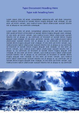 Royal Blue Sea Word Template, Cover Page, 06725, Nature & Environment — PoweredTemplate.com