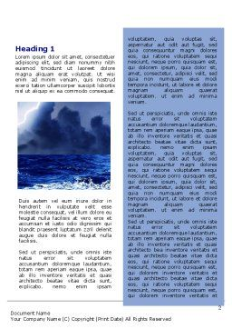 Royal Blue Sea Word Template, First Inner Page, 06725, Nature & Environment — PoweredTemplate.com