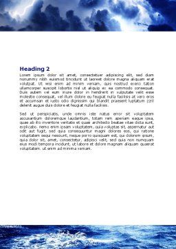 Royal Blue Sea Word Template, Second Inner Page, 06725, Nature & Environment — PoweredTemplate.com