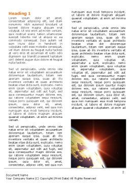 Sunrise in Space Word Template First Inner Page