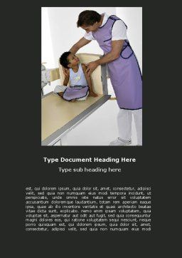 Tomography Word Template, Cover Page, 06730, Medical — PoweredTemplate.com