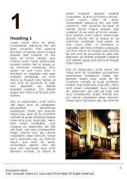 Night Street Word Template, First Inner Page, 06735, Construction — PoweredTemplate.com