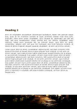 Night Street Word Template, Second Inner Page, 06735, Construction — PoweredTemplate.com