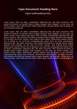 Abstract Neon Glowing Circle Word Template, Cover Page, 06736, Technology, Science & Computers — PoweredTemplate.com