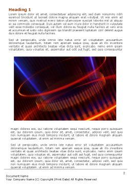 Abstract Neon Glowing Circle Word Template, First Inner Page, 06736, Technology, Science & Computers — PoweredTemplate.com