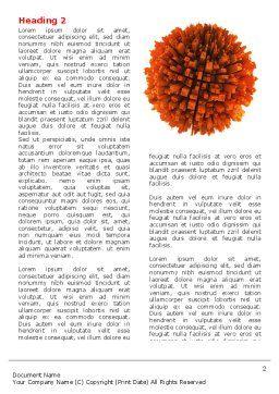 Urban Globe Word Template, First Inner Page, 06737, 3D — PoweredTemplate.com