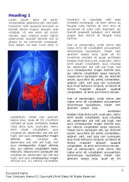 Intestines Word Template, First Inner Page, 06738, Medical — PoweredTemplate.com