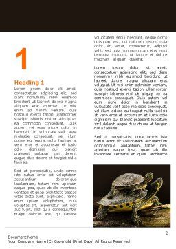 Two Turtles Word Template, First Inner Page, 06741, Agriculture and Animals — PoweredTemplate.com