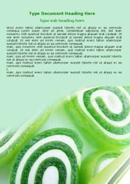 Jelly Candy Word Template, Cover Page, 06745, Food & Beverage — PoweredTemplate.com