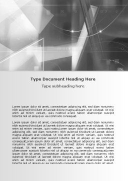 Abstract Geometry In Gray Word Template, Cover Page, 06746, Technology, Science & Computers — PoweredTemplate.com