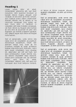 Abstract Geometry In Gray Word Template, First Inner Page, 06746, Technology, Science & Computers — PoweredTemplate.com