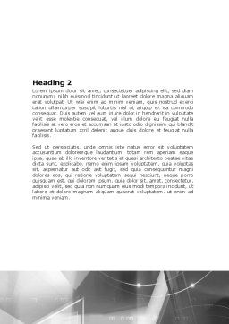 Abstract Geometry In Gray Word Template, Second Inner Page, 06746, Technology, Science & Computers — PoweredTemplate.com