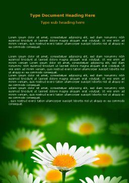 Daisy Meadow Word Template Cover Page
