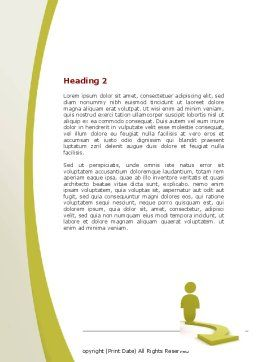 Life Choices Word Template, Second Inner Page, 06753, Business Concepts — PoweredTemplate.com