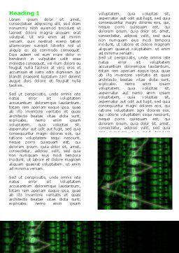 Matrix Code Stream Word Template, First Inner Page, 06754, Telecommunication — PoweredTemplate.com