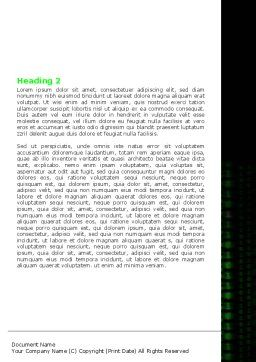 Matrix Code Stream Word Template, Second Inner Page, 06754, Telecommunication — PoweredTemplate.com
