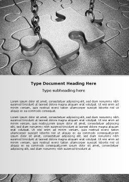 Jigsaw Adjustment Word Template, Cover Page, 06755, Consulting — PoweredTemplate.com