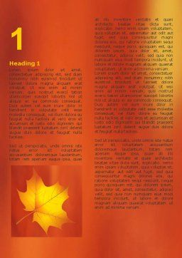 Autumn Leaves Theme Word Template First Inner Page