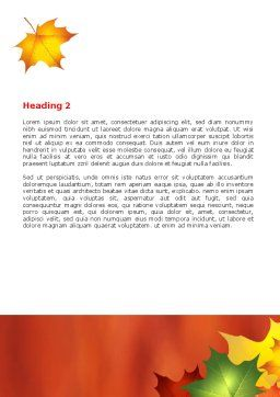 Autumn Leaves Theme Word Template, Second Inner Page, 06756, Nature & Environment — PoweredTemplate.com