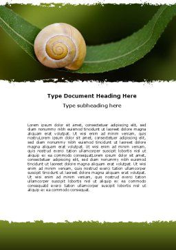 Snail Shell Word Template Cover Page