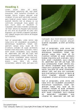 Snail Shell Word Template First Inner Page