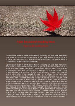 Red Leaf Word Template, Cover Page, 06765, Consulting — PoweredTemplate.com