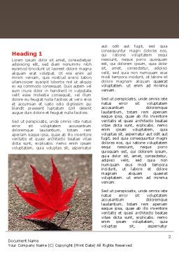 Red Leaf Word Template, First Inner Page, 06765, Consulting — PoweredTemplate.com