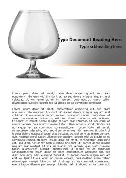 Cognac Glass Word Template, Cover Page, 06768, Careers/Industry — PoweredTemplate.com