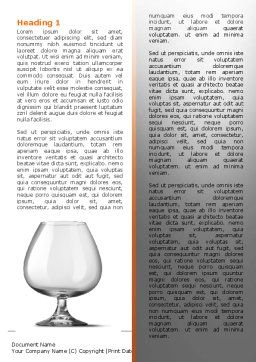 Cognac Glass Word Template, First Inner Page, 06768, Careers/Industry — PoweredTemplate.com