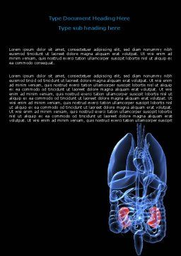 Kidney Word Template, Cover Page, 06769, Medical — PoweredTemplate.com