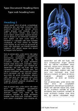 Kidney Word Template, First Inner Page, 06769, Medical — PoweredTemplate.com