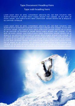 Snowboarding Tricks Word Template, Cover Page, 06770, Sports — PoweredTemplate.com