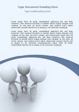 Arrangement Word Template, Cover Page, 06771, Consulting — PoweredTemplate.com