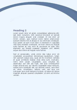 Arrangement Word Template, Second Inner Page, 06771, Consulting — PoweredTemplate.com
