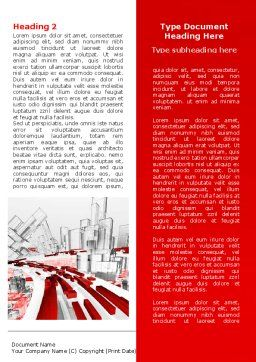 Abstract City Collapse Word Template, First Inner Page, 06774, Construction — PoweredTemplate.com