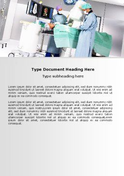 Operation In Progress Word Template, Cover Page, 06775, Medical — PoweredTemplate.com