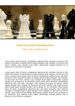 Chess Figures Word Template Cover Page