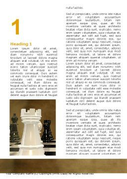 Chess Figures Word Template First Inner Page